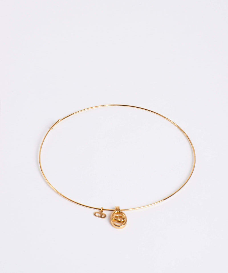 Christian Dior Christian DIOR gold hoop choker necklace