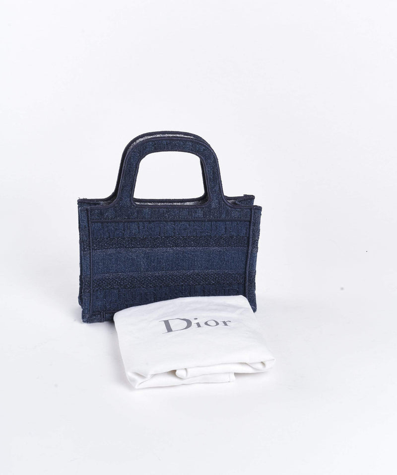 Christian Dior Dior denim micro book tote