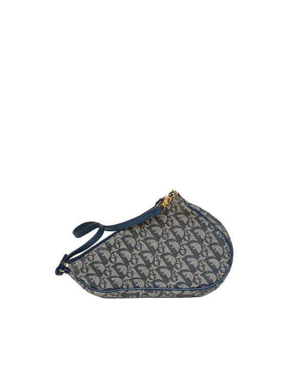 Christian Dior Dior navy oblique mini saddle ASL1107