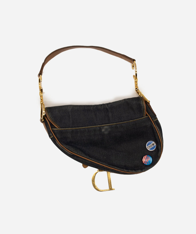 Christian Dior Dior Saddle Denim Bag