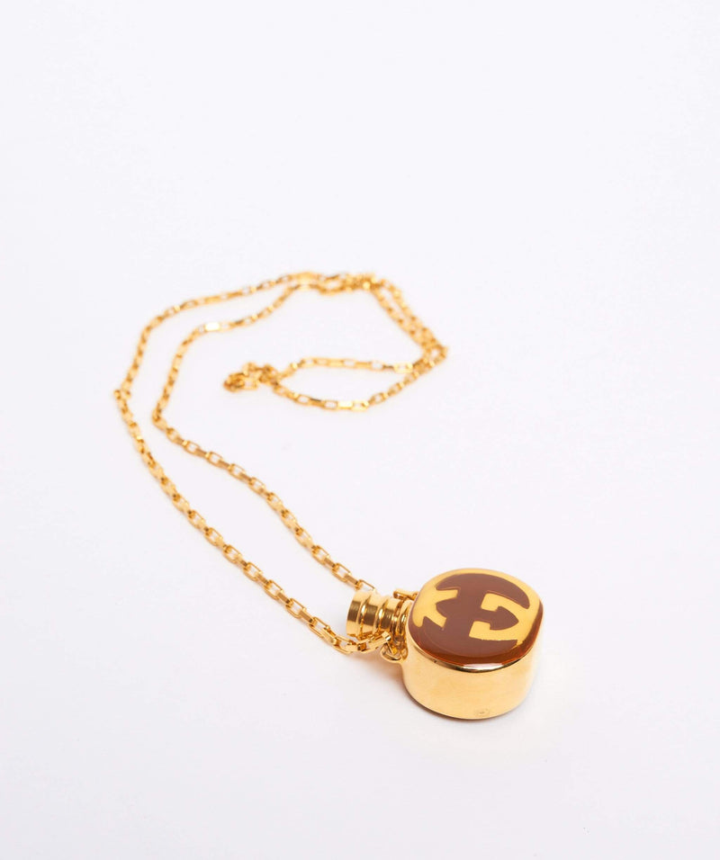 Gucci Gucci Vintage GG Perfume Bottle Necklace