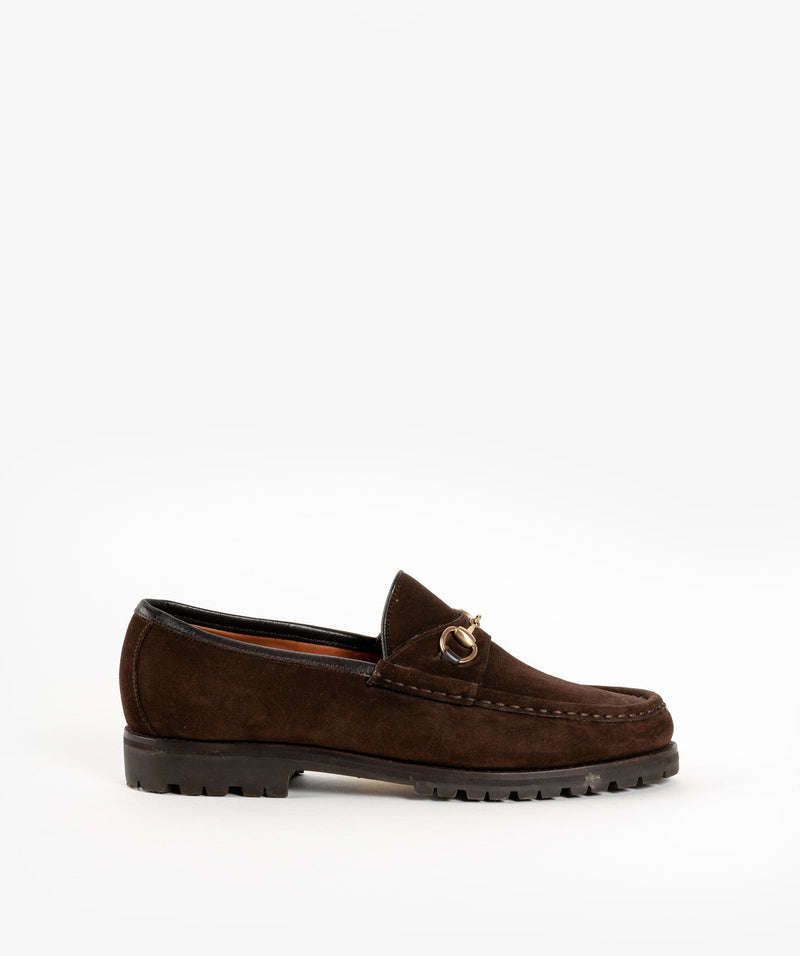 Gucci Gucci Horsebite Brown Loafers with Rubber Soles