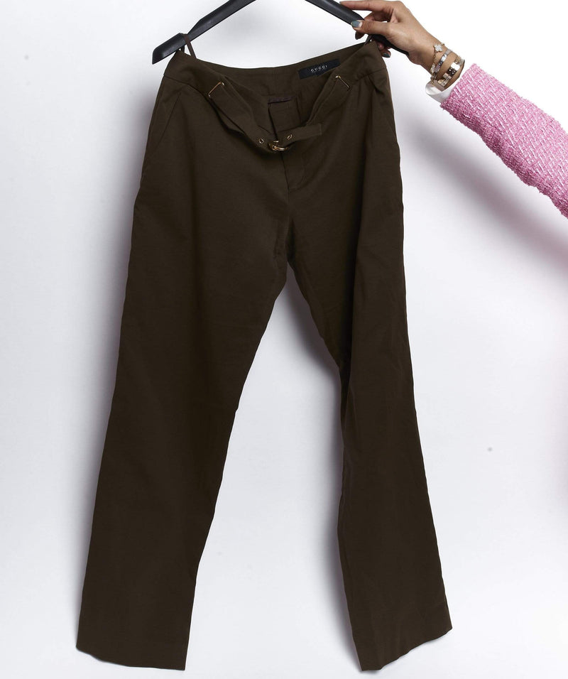 Gucci Gucci trousers khaki with belt size 44