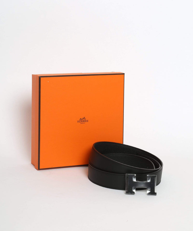 Hermès Hermes constance belt so black