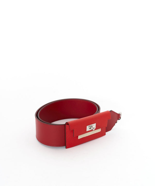 Hermès Hermes Kelly Red Pocket Strap