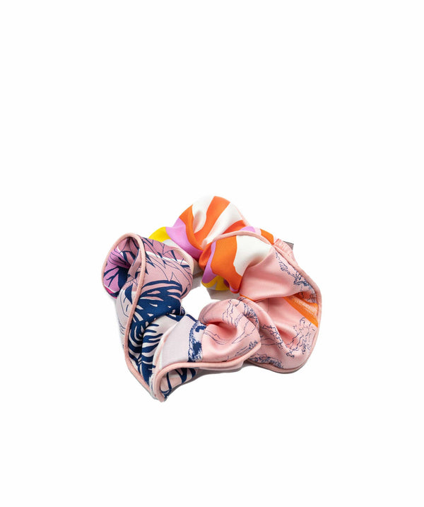 Hermès Hermes Pink/Blue/White Hair Scrunchie