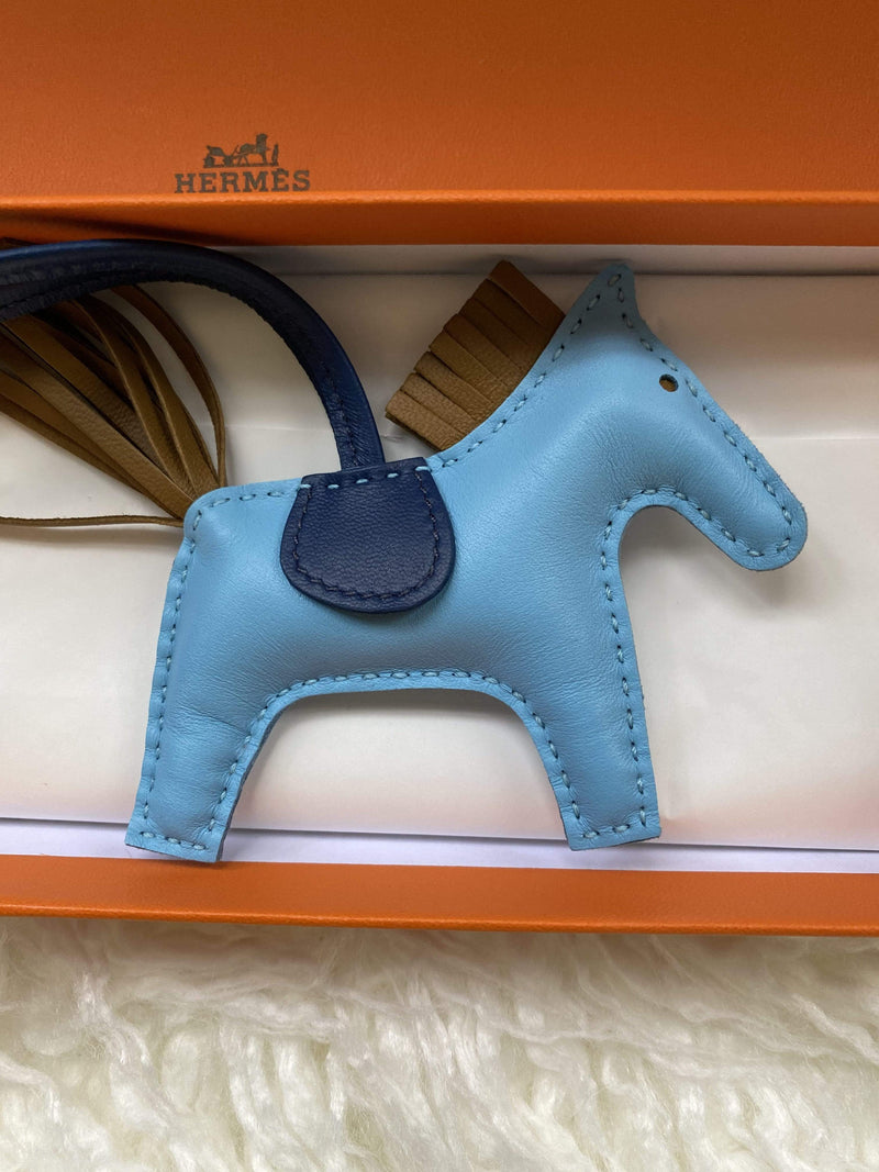 Hermès Hermes Rodeo PM  Celeste, Navy And Brown