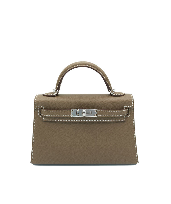 Hermès Hermes Kelly 20 Etoupe with PHW
