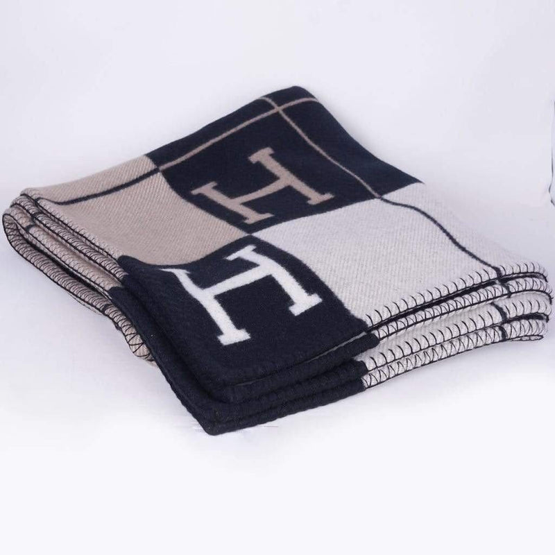 Hermès Hermes Avalon Blanket Black/ Grey/Beige