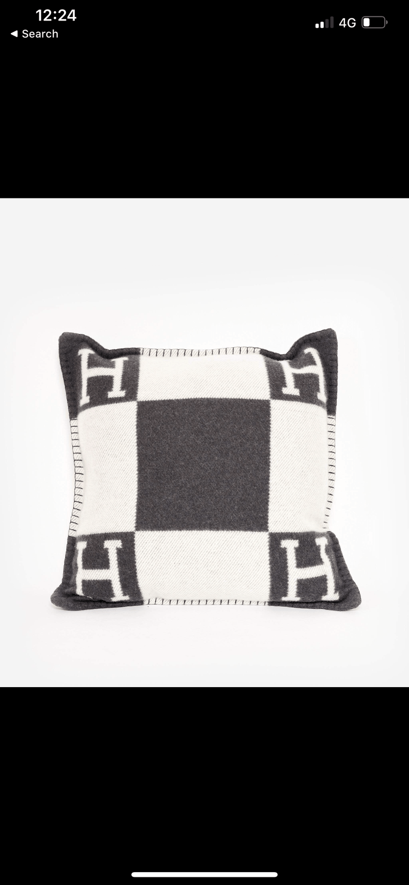 Hermès Hermes Avalon Pillow Grey/ Black