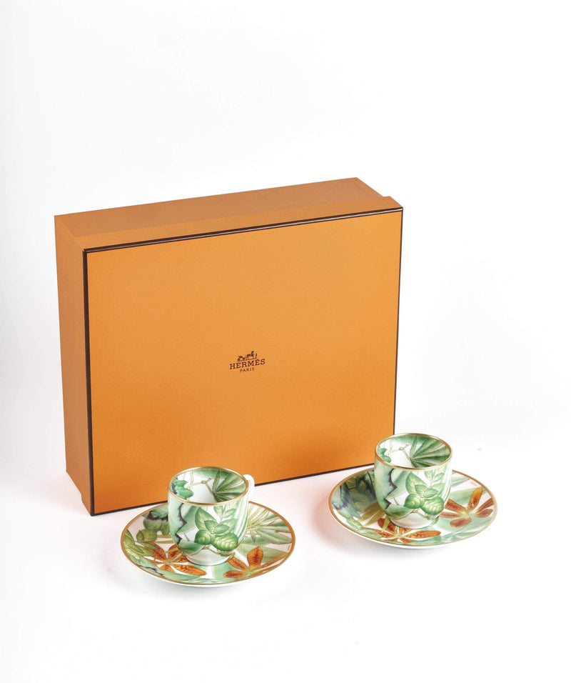 Hermès Hermes Passifolia Coffee Cup and Saucer