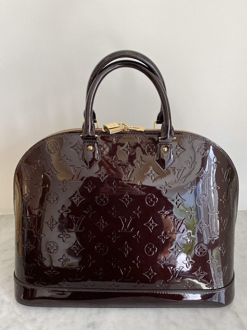 Louis Vuitton Louis Vuitton Alma Amarante Vernis GM