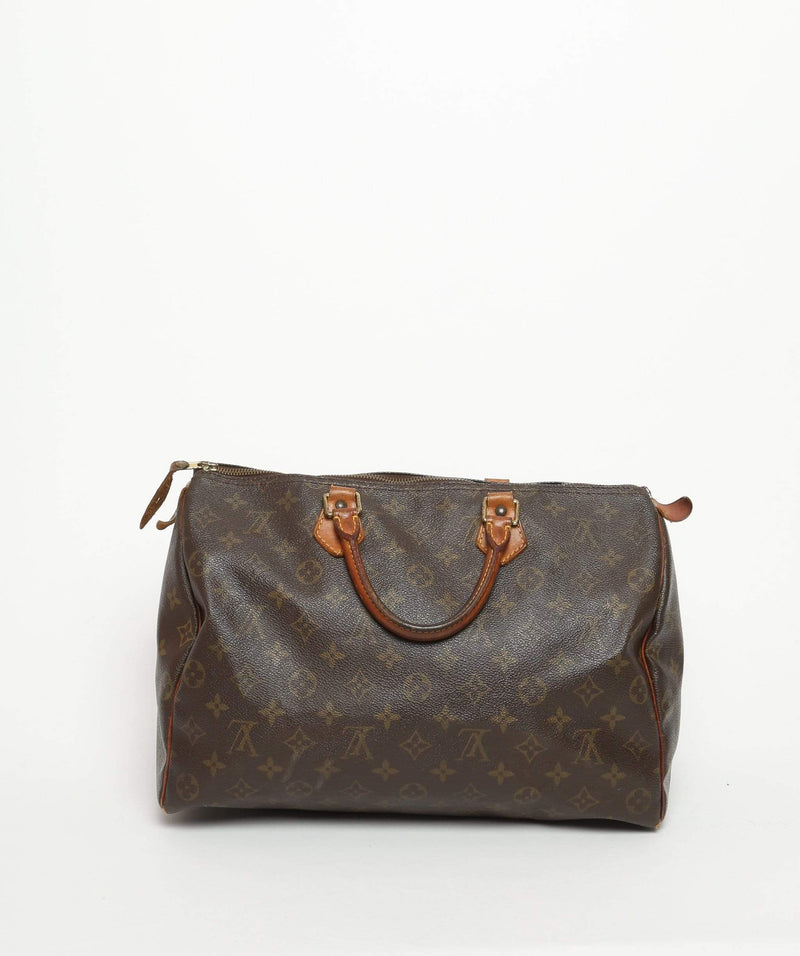 LOUIS VUITTON Monogram Speedy 35 Hand Bag SP0988