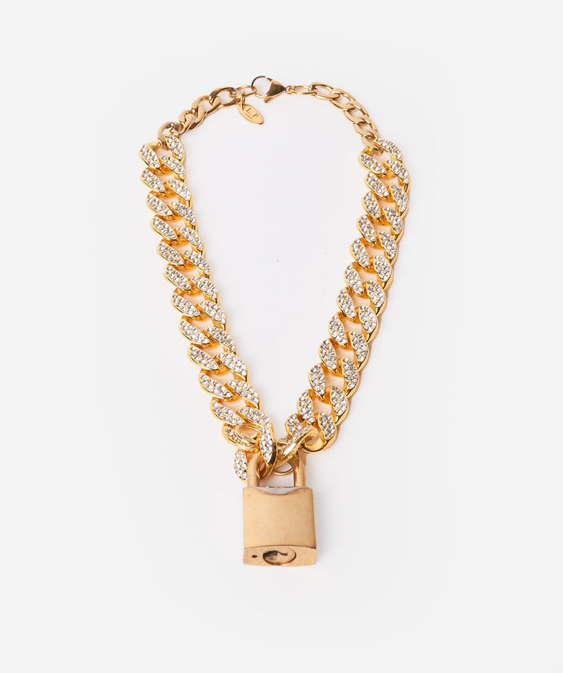 Luxury Promise Chunky Chain With Crystal Details