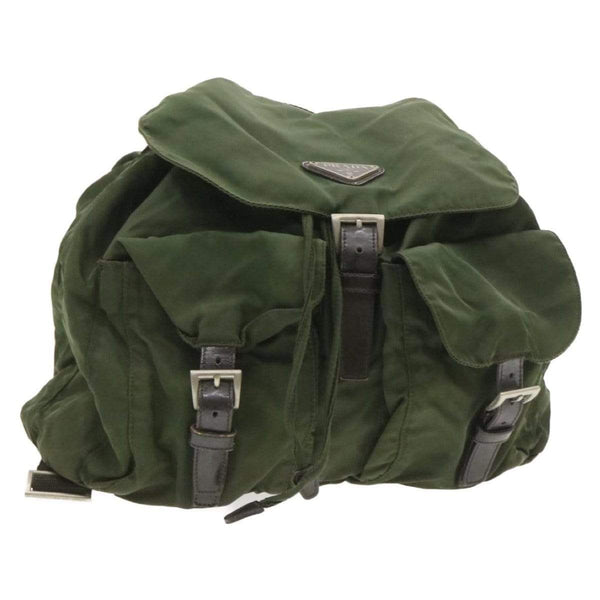 Prada Prada Green Large Nylon Backpack 56
