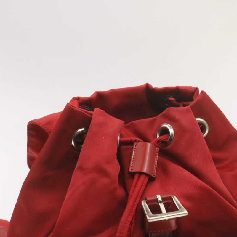 Prada PRADA Nylon Mini Backpack Red 35