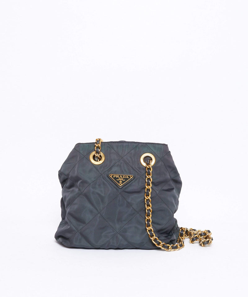 Prada PRADA Quilted Nylon Chain Shoulder Bag 47