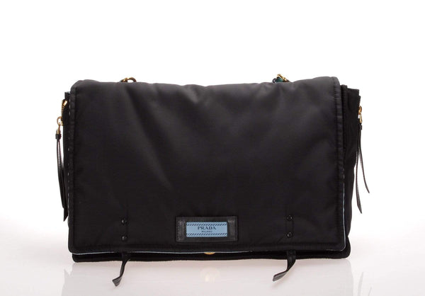 Prada Tessuto Etiquette Shoulder Bag