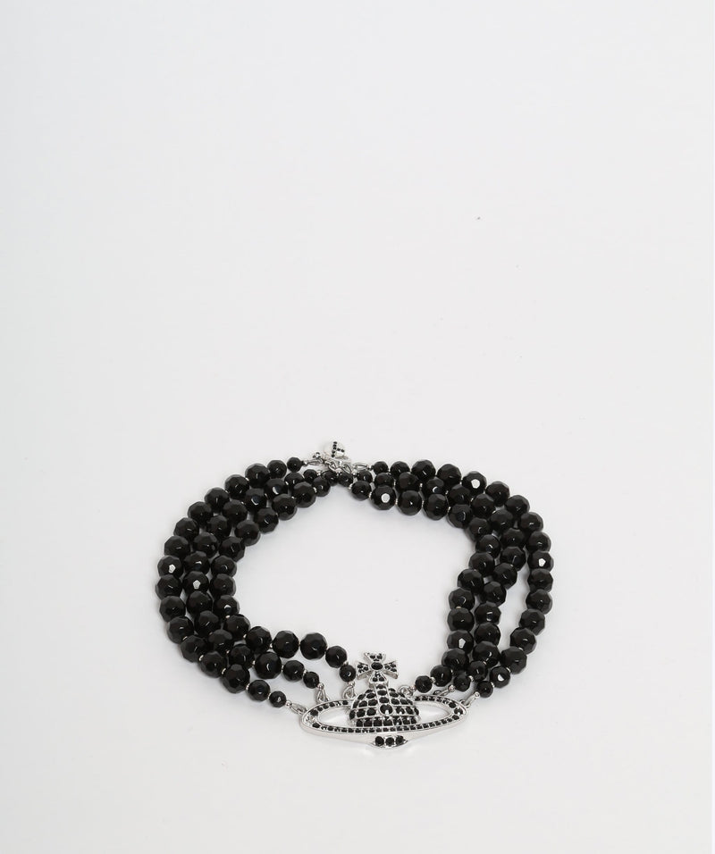 Vivienne Westwood Vivienne Westwood Black Pearl Choker Necklace with Silver Detailing