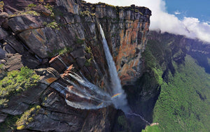 The tallest waterfall in the world: Angel Falls, Venezuela