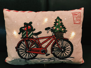 Festive Light Up Bike Pillow