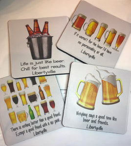 Libertyville Beer Coasters (4 pack)