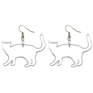 Hand Made Clear Cat Earrings Acrylic - Sparrow & The Bear