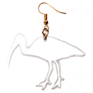 Hand Made Clear Bin Chicken Earrings Acrylic - Sparrow & The Bear
