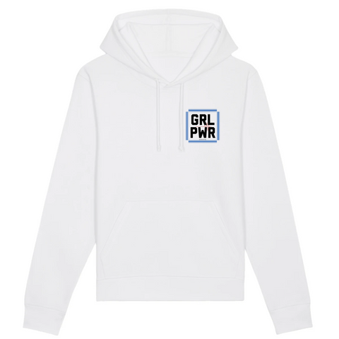 Sweat feministe girl power Blanc