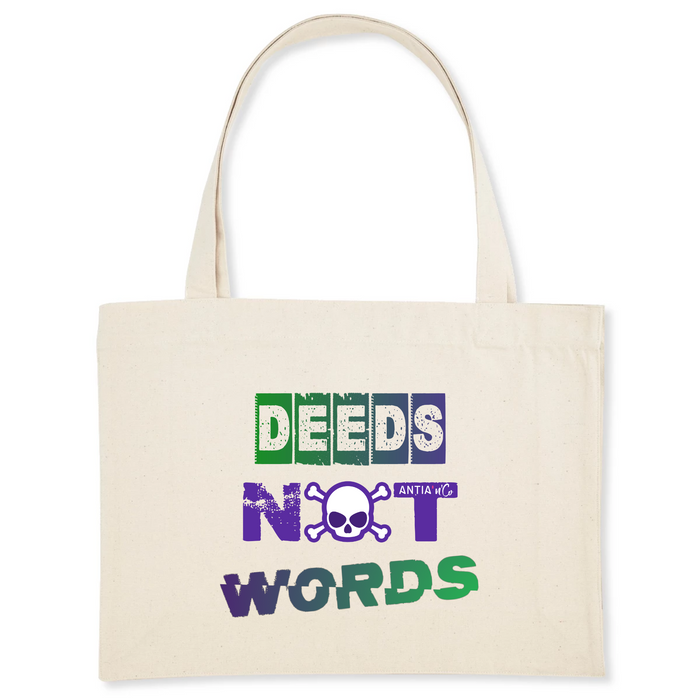 Sac Féministe<br/> Avec Message Deeds Not Words