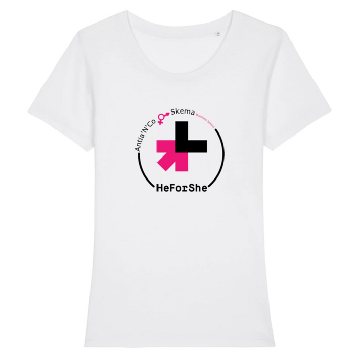 T-Shirt Féministe<br/> He For She - SKEMA (Ajusté)