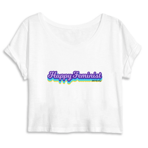 T-Shirt Feministe Crop Top Graphic