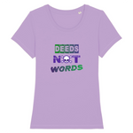 t shirt deeds not words