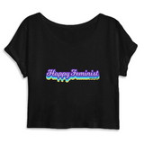 Tee Shirt Feministe Crop Top Graphic