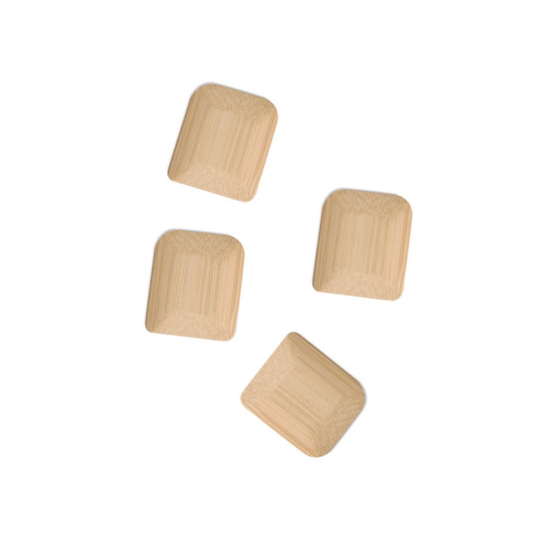 Bamboo Pot Scrapers (Set of 4)