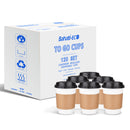Disposable Coffee Cups With Lids - 12 oz