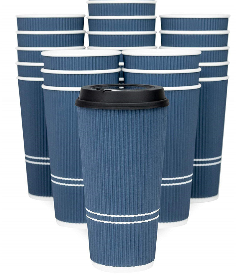 Disposable Coffee Cups With Lids - 16 oz