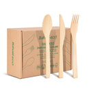 Bamboo Spoon, Knife &Fork Set