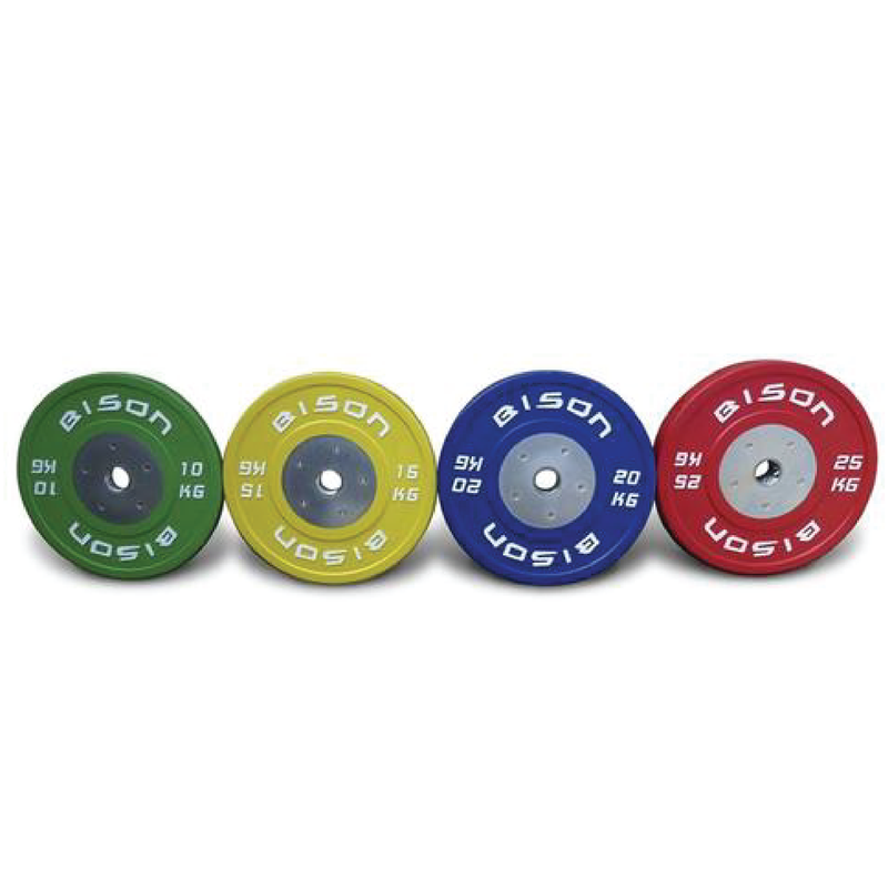 Bison™ Colour Olympic Competition Bumper Plates 140kg Set
