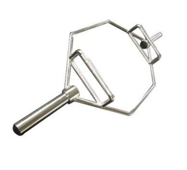 A silver olympic lifting bar