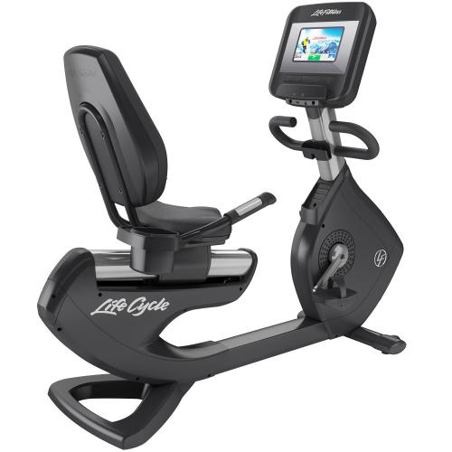 Elevation Series Lifecycle® Recumbent Exercise Bike with Discover SI Tablet Console in Artic Silver.