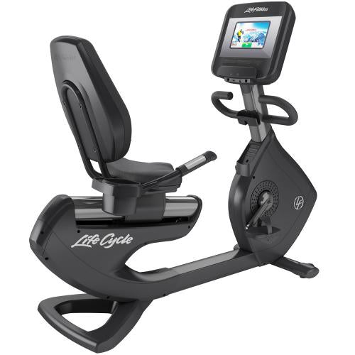 Elevation Series Lifecycle® Recumbent Exercise Bike with Discover SI Tablet Console in Titanium Storm.