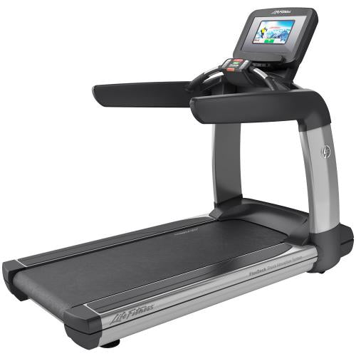 Elevation Series Treadmill with Discover SI Tablet Console in Artic Silver.