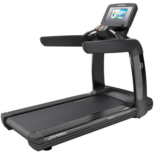 Elevation Series Treadmill with Discover SI Tablet Console in Black Onyx.