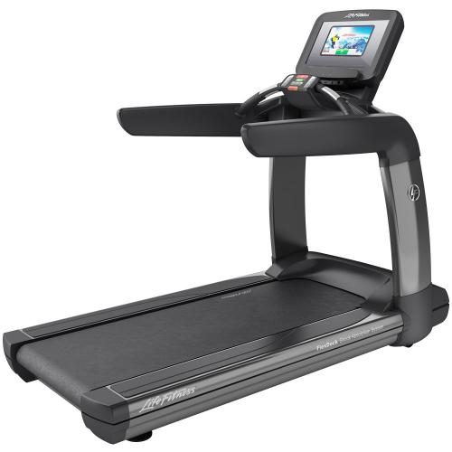 Elevation Series Treadmill with Discover SI Tablet Console in Titanium Storm.