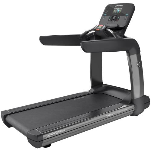 Elevation Series Treadmill with Explore Console with QuickNav Dial in Titanium Storm.