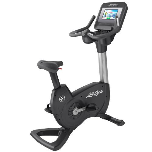 Elevation Series Lifecycle® Upright Exercise Bike with Discover SI Tablet Console in Artic Silver.