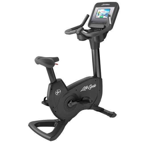Elevation Series Lifecycle® Upright Exercise Bike with Discover SI Tablet Console in Black Onyx.