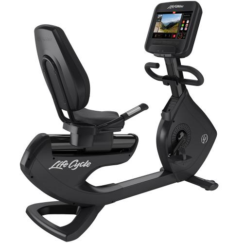 Elevation Series Lifecycle® Recumbent Exercise Bike with Discover SE3 Tablet Console in Black Onyx.