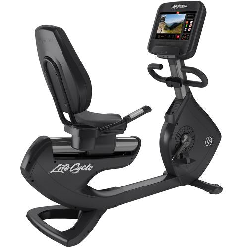 Elevation Series Lifecycle® Recumbent Exercise Bike with Discover SE3 Tablet Console in Titanium Storm.